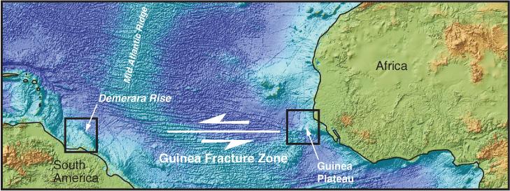 figure f2 morphologic map of the equatorial atlantic